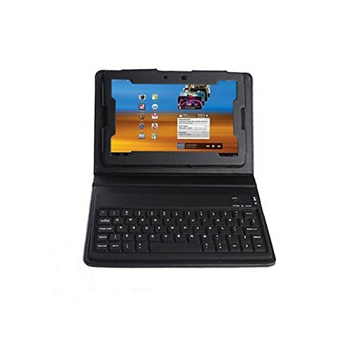 [US Direct] IMAGE Wireless Bluetooth Keyboard Leather Case Cover with Stand for Blackberry Playbook 7