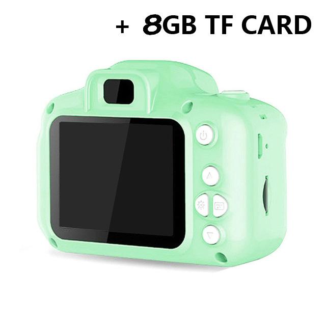 Children's Camera Mini Sd Video Smart Shooting Digital Camera + 8gb Memory Card