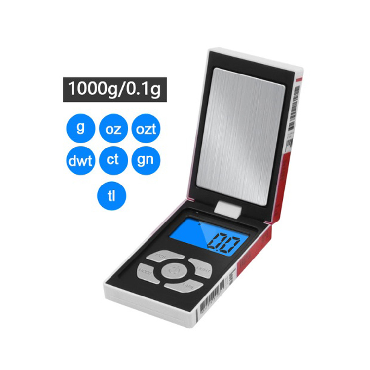 100g 500g 1000gx 0.01g 0.1g Mini Electronic Scales Pocket Digital Scale for Gold Sterling Silver Jewelry Balance Gram 1kg/0.1g