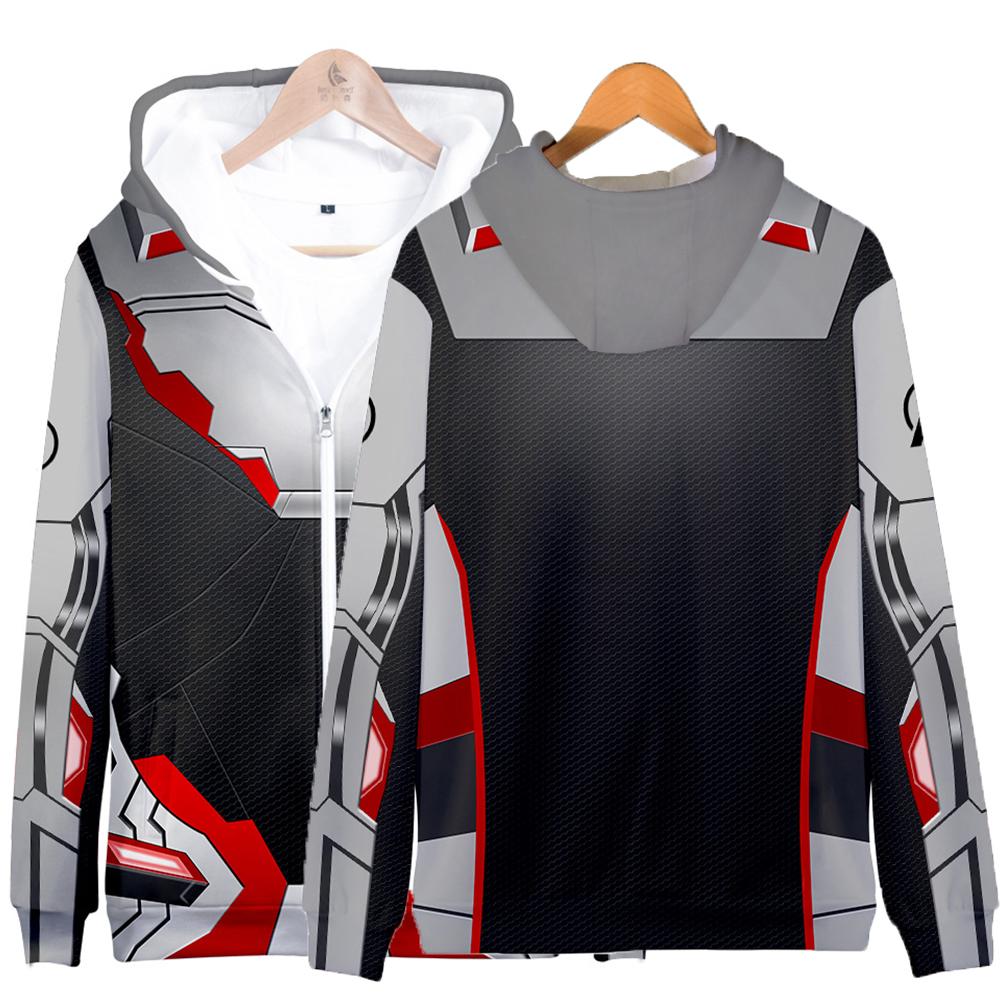 Avengers Endgame 4 Quantum Suit 3D Printing Hoodies Sweatshirt Cosplay Sweater Jacket Coat Q-3868-YH07_XXXL