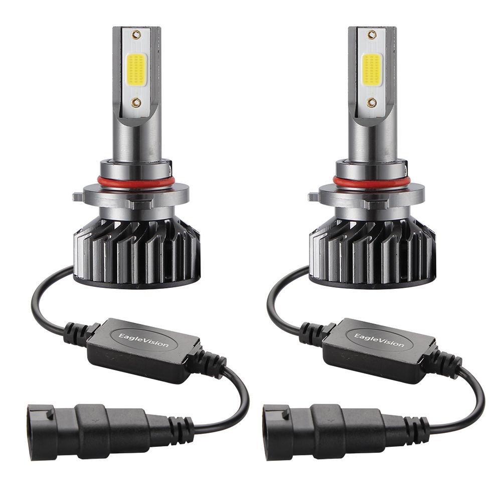 2PCS Mini Car LED Headlight Bulb H1 H7 H8/H9/H11 9005/HB3 9006/HB4 H4/HB2/9003 Hi/Lo 72W 10000LM 6000K Car Headlamp 9005/HB3