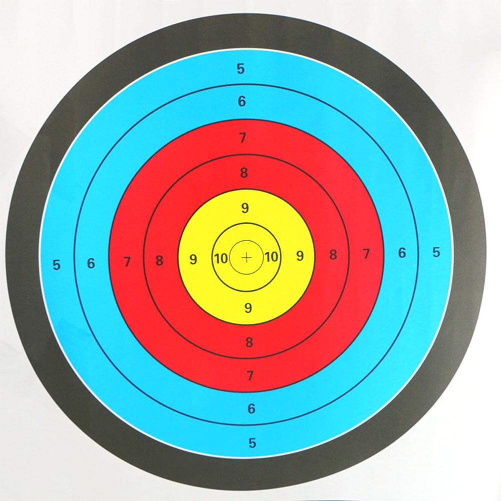 60X60cm Professional Shooting Bullseye Archery Target Professional Sports Target Sheet 60*60cm