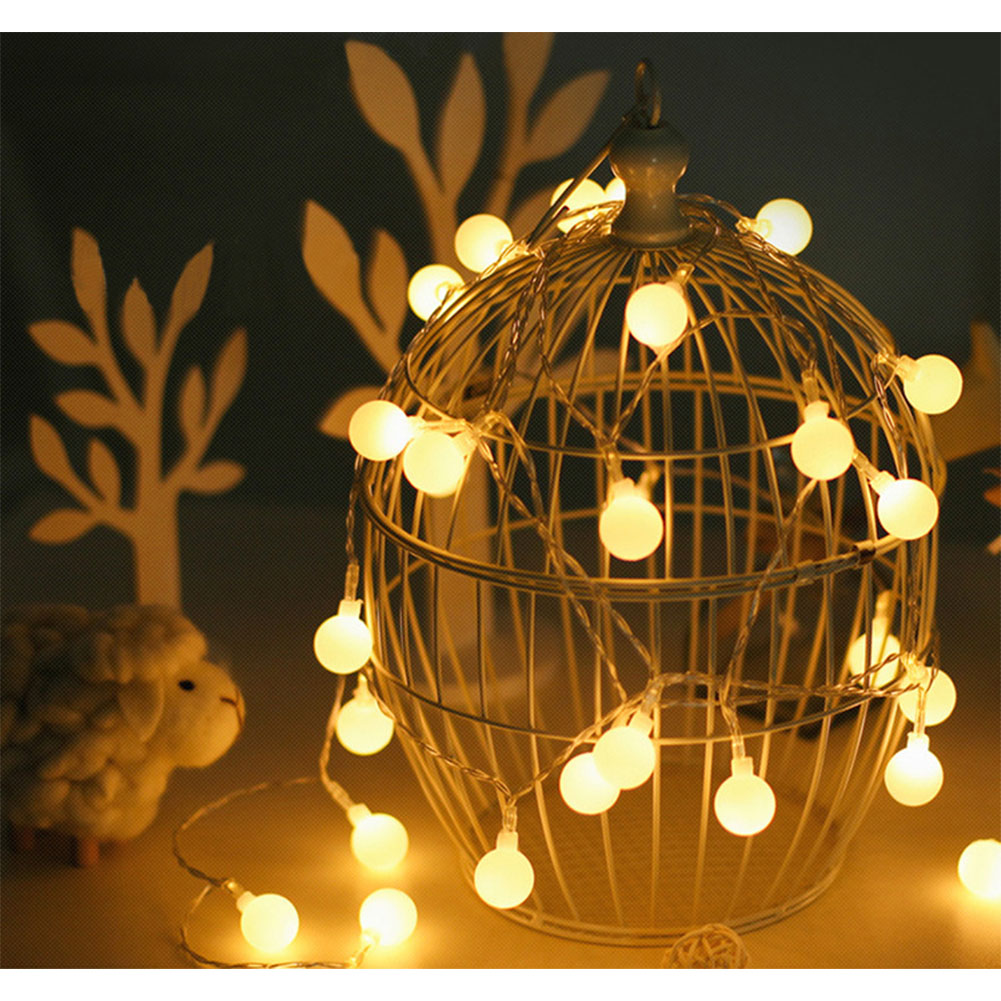 5M 50 LED USB Ball Bulb String Lights with Remote Control Garden Home Party Bar Decoration Warm White