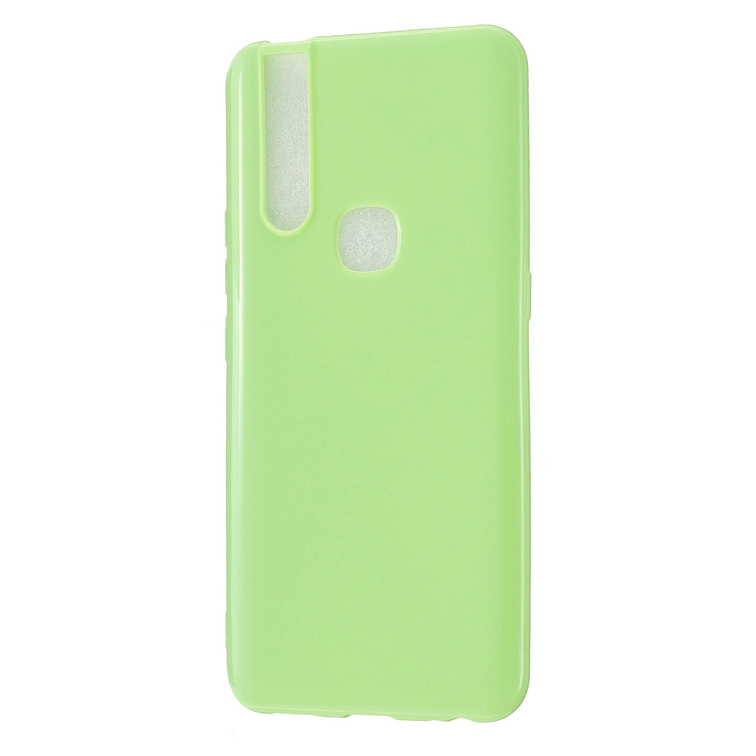 For VIVO V15/V15 Pro Cellphone Cover Slim Thin TPU Case Shock Absorption Mobile Phone Protective Cover  Fluorescent green