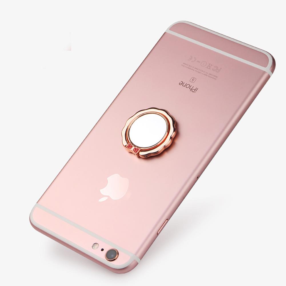 Butterfly Ring Buckle Car Mobile Phone Holder Mobile Ring Bracket Rose gold