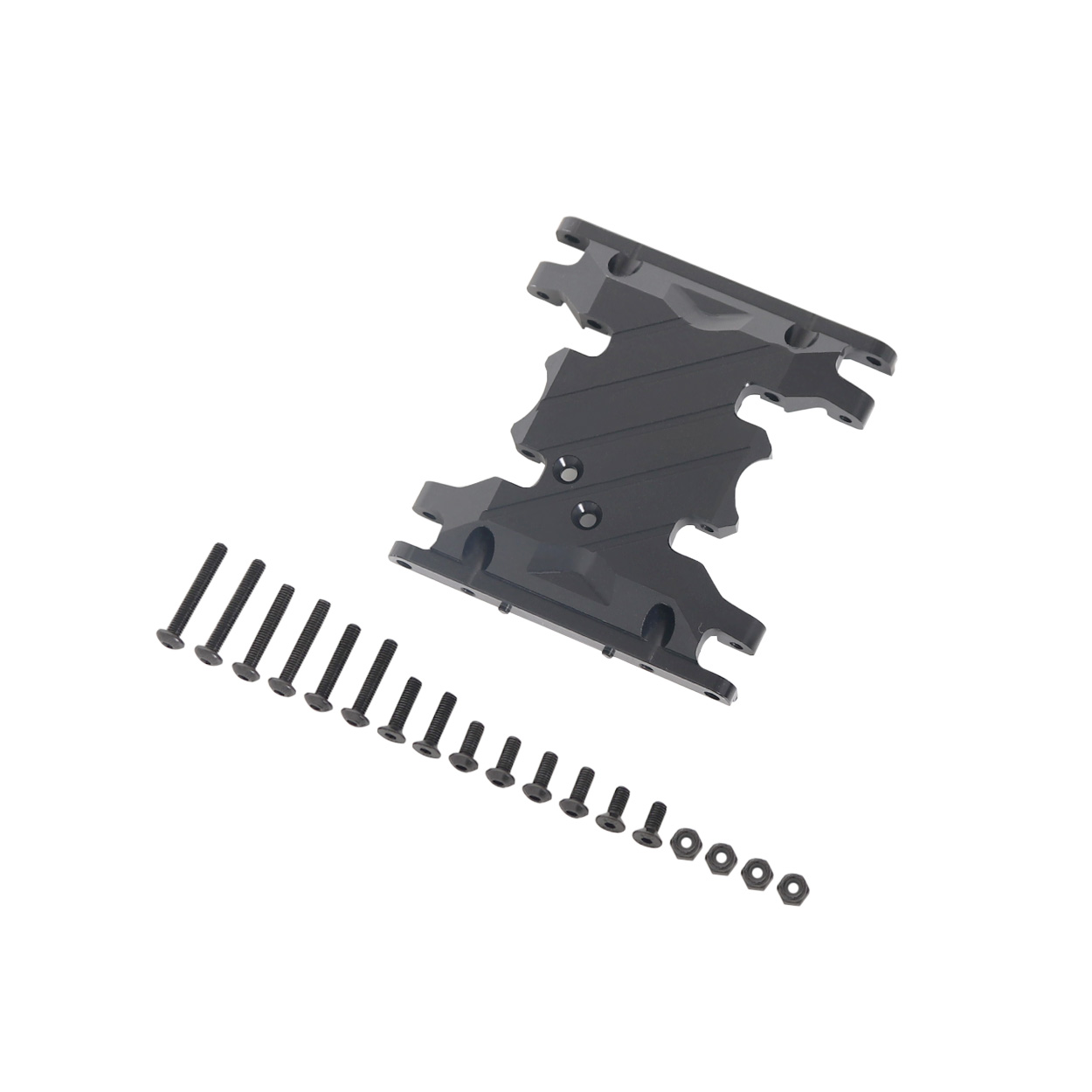 1/10 CNC Alloy Gear Box Mount Holder for 1/10 Rc Crawlers Axial SCX10 D90 D110 black