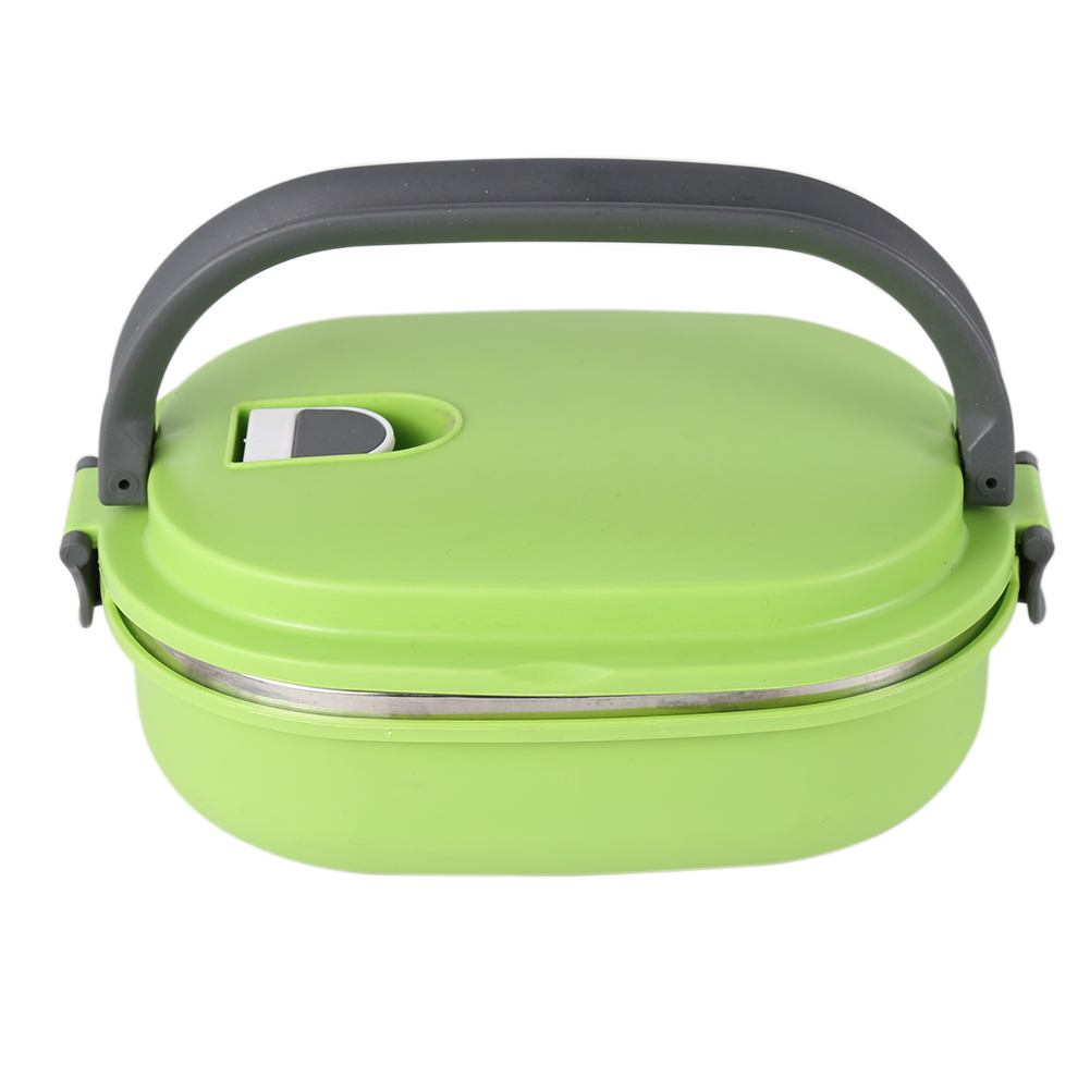 Hot Thermal Insulated Bento Stainless Steel Food Container Lunch Box 1 2 3 Layer Styles:Single Layer Colors:Green