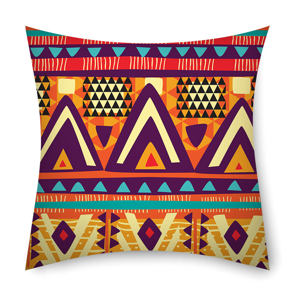 Colorful Striped Pillowcase 45*45cm Linen Pillow Case Sofa Cushion Cover 4