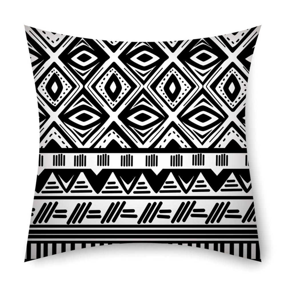 Linen Bohemian Style Striped Pillowcase 45*45cm Pillow Case Sofa Cushion Cover 1