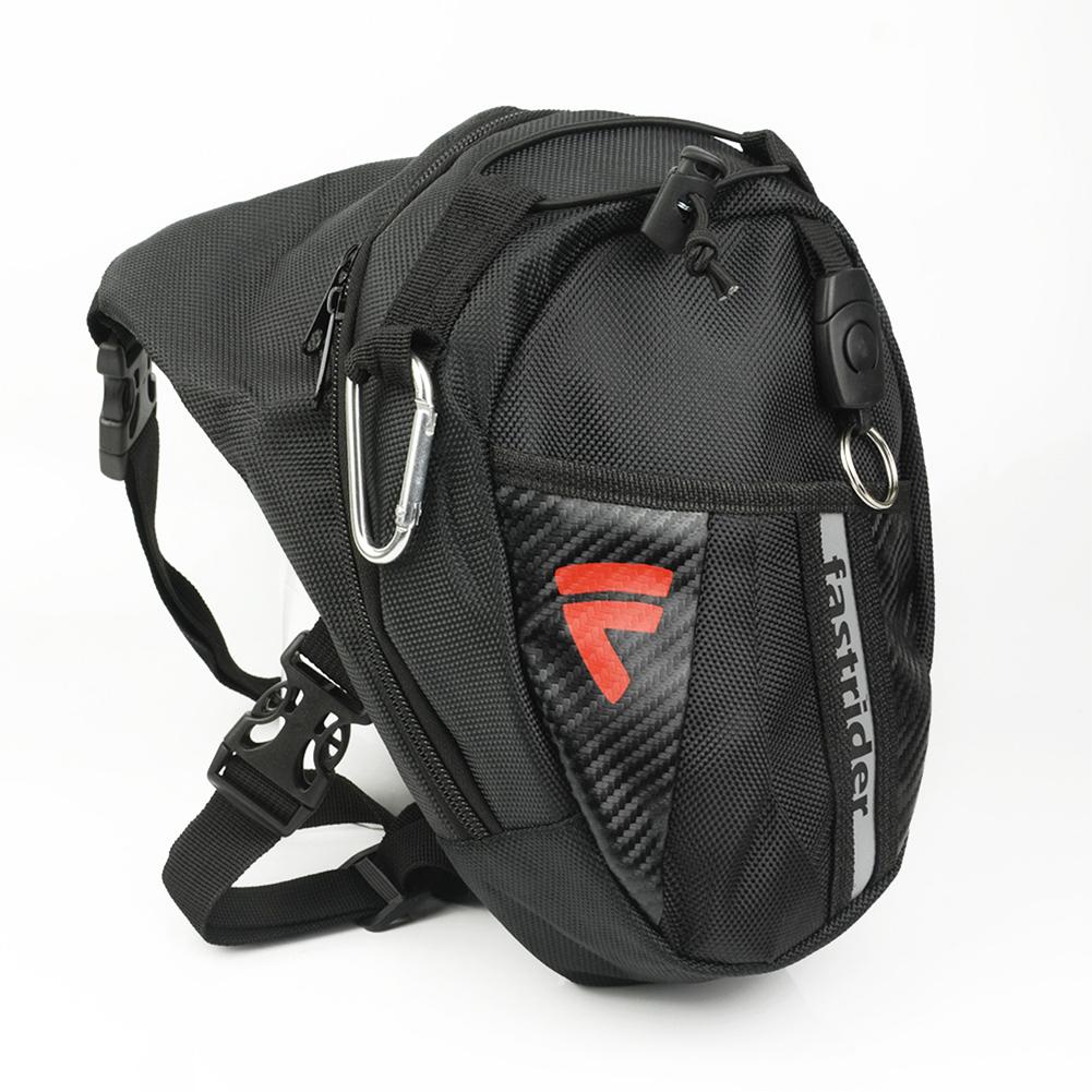 Motorcycle  Bag Waist  Pack Outdoor Bike Man Adjustable Leg Bag For Hiking Outdoor Camping black