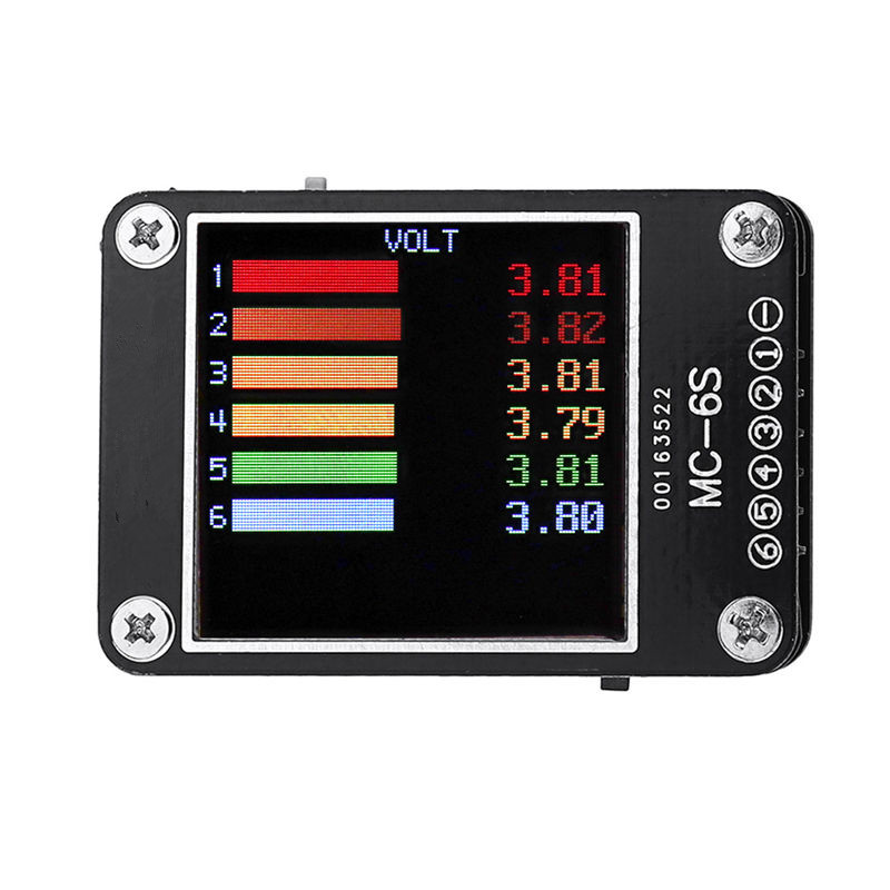 URUAV MC-6S 1-6S Lipo Battery Voltage Checker Receiver Signal Tester for check S-Bus PPM PWM and DSM Satellites Receiver as shown