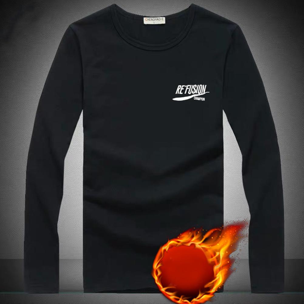 Thicken Velvet Sweater with Cartoon Pattern Decor Loose Pullover Top for Man Plus velvet RE black_L