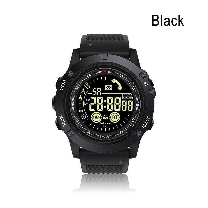 Outdoor Bluetooth IP67 Waterproof Sports Smart Watch Tactial Military Grade Watch  black
