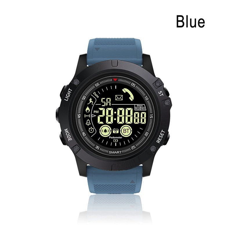 Outdoor Bluetooth IP67 Waterproof Sports Smart Watch Tactial Military Grade Watch  blue