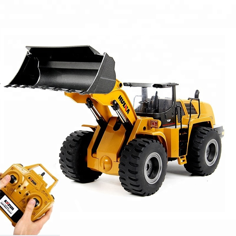 Huina 583 1583 10 Channel 1:14 Remote Control Excavator Rtr 2.4ghz Hobby Bulldozer Alloy Truck Boys Autos Rc Hydraulic Rc Toys yellow