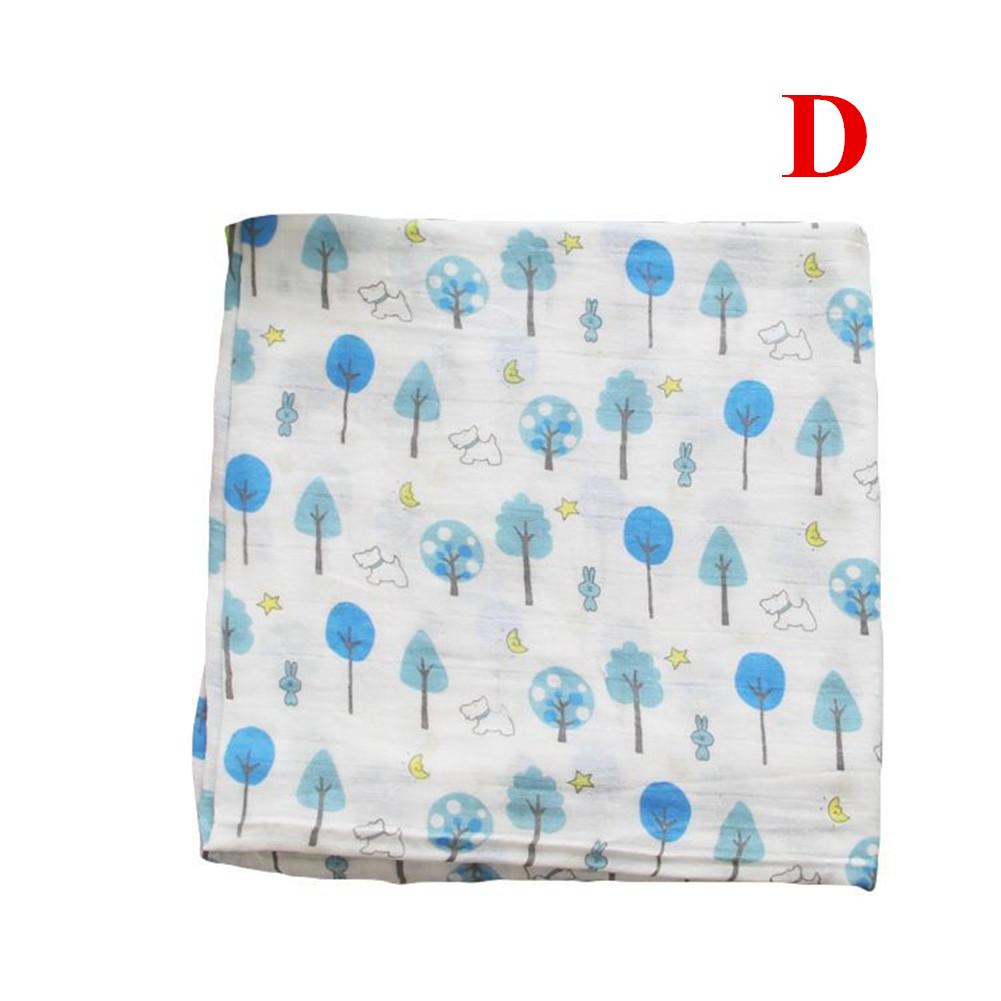 Baby Cotton 2-layer Bath Towel Newborn Towel Stroller Seat Blanket D_120*120