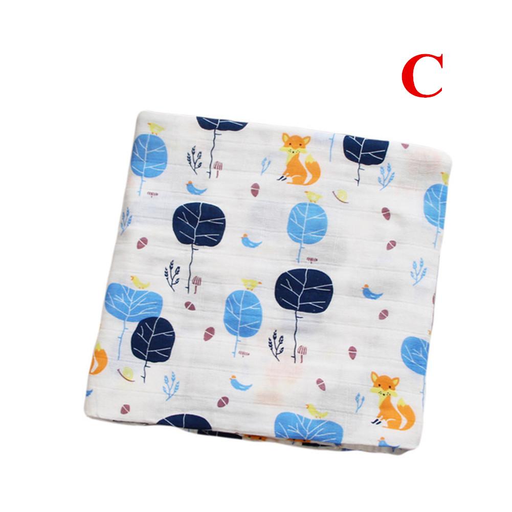 Baby Cotton 2-layer Bath Towel Newborn Towel Stroller Seat Blanket C_120*120