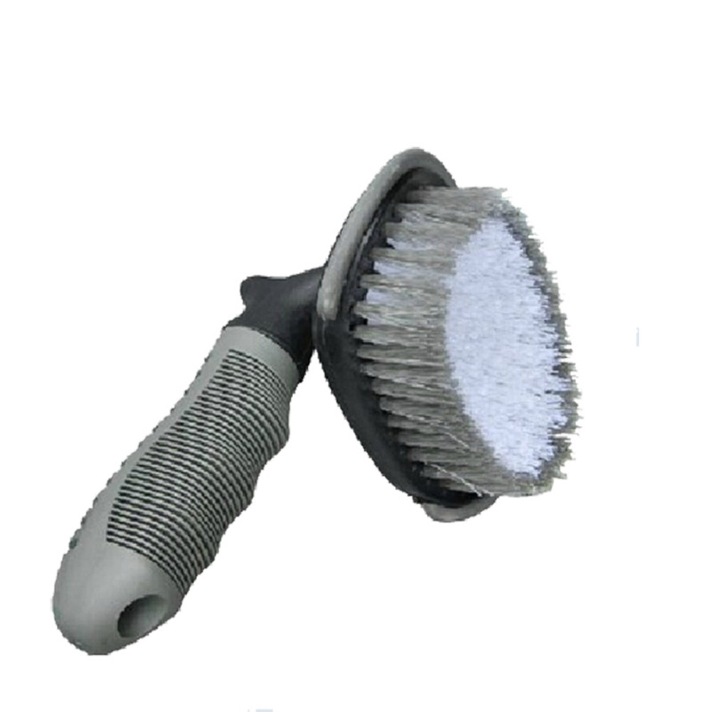 Tire Wheel Hub Cleaning Brush Car MotorcycleScrub Washing Dust Cleaner Cleaning Tool Gray White