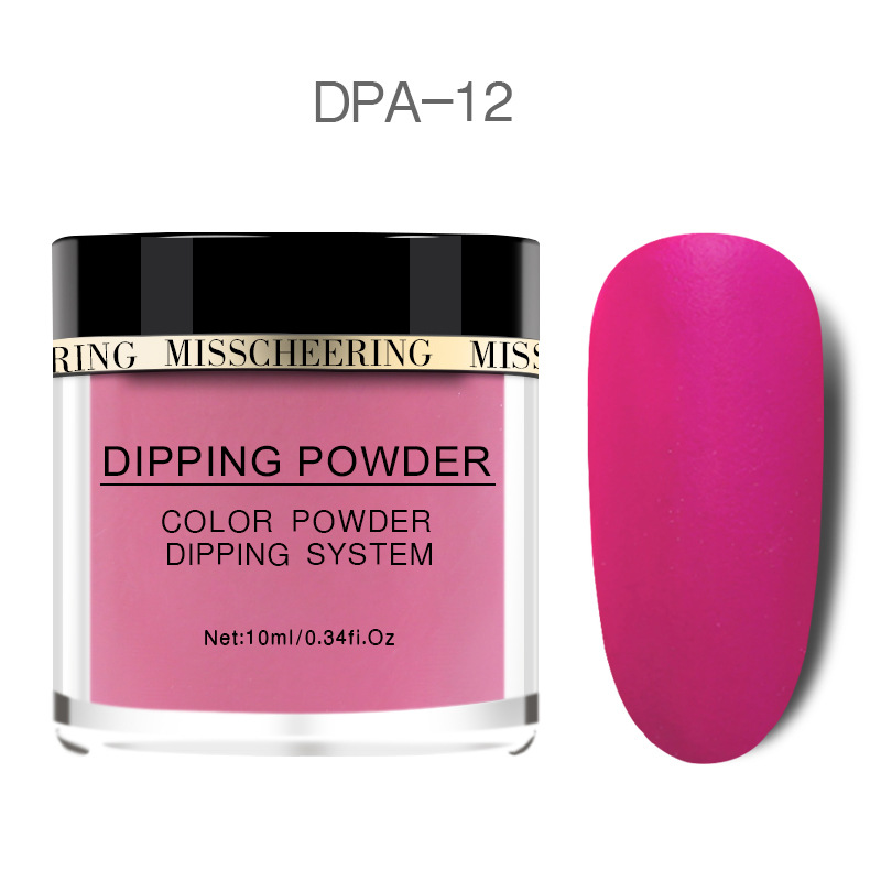 Matte Color Manicure Powder Nail Dipping Powder Nail Art Decorations  12