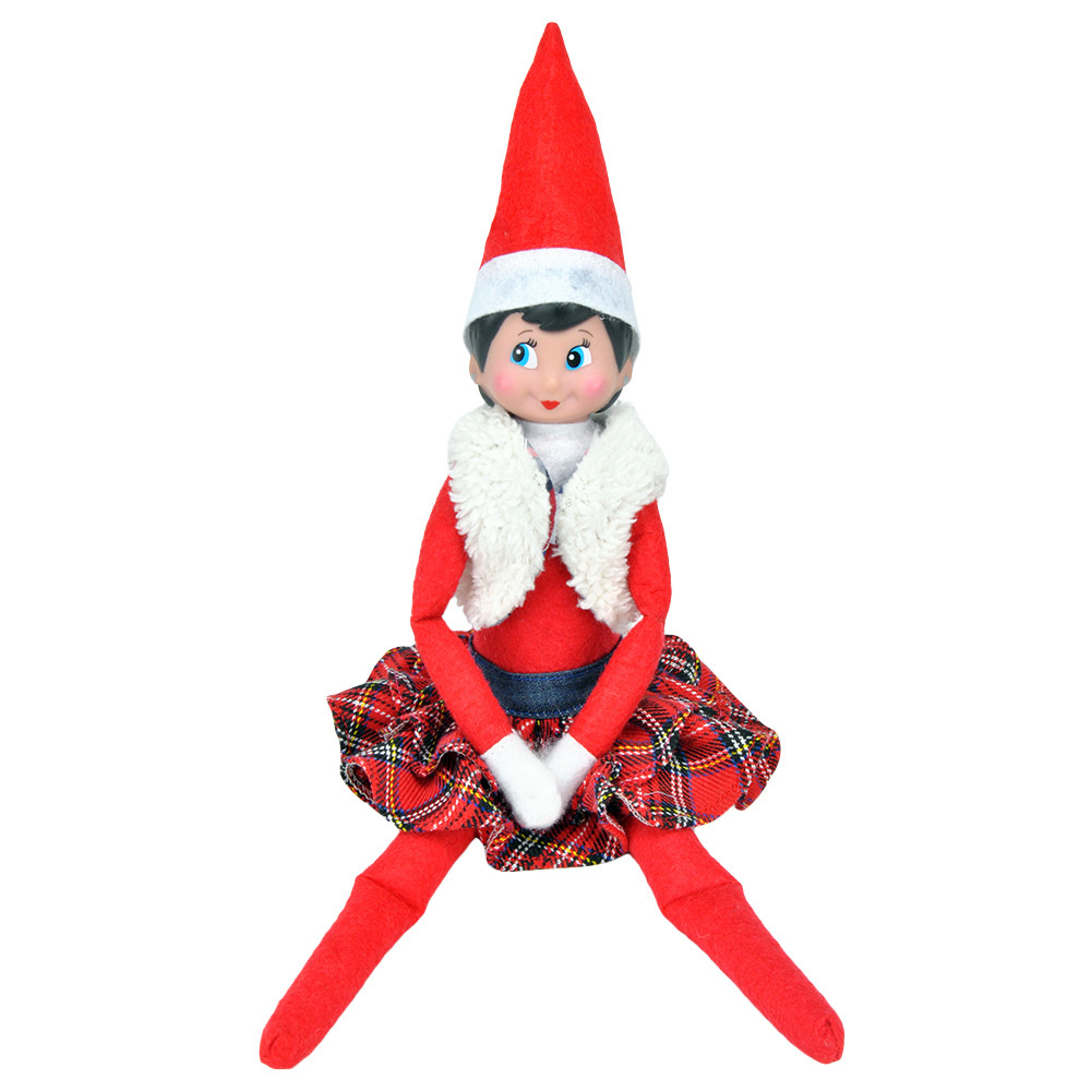 Cloth Elf Doll Costume Christmas Elf Clothes (without Doll) Clothes #1