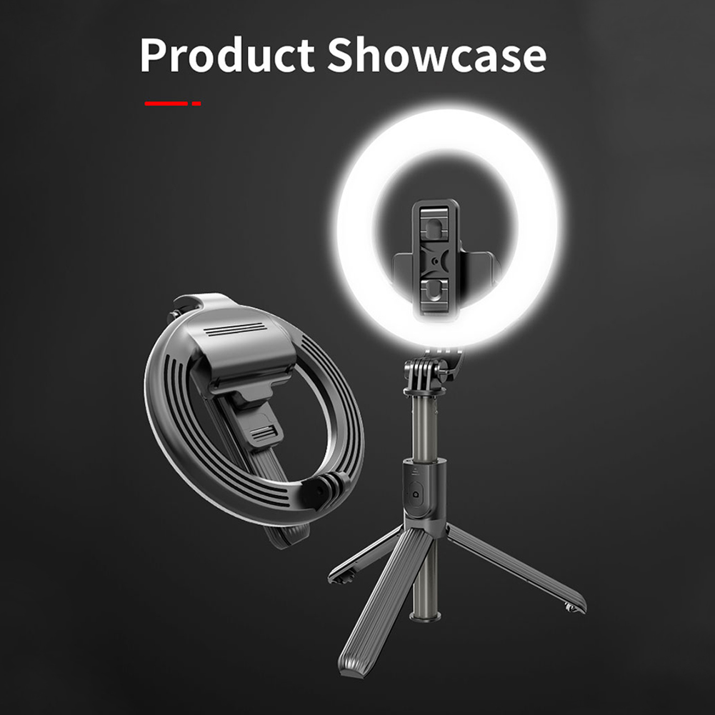 L07 5 Inch Ring Light Bluetooth Selfie Stick Portable LED Fill Light Mobile Phone Live Bracket black