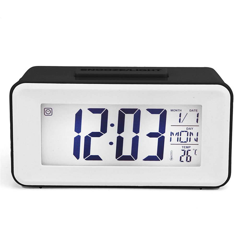 Alarm  Clock Plastic Mini Smart Voice-activated Electronic Clock With Digital Display black