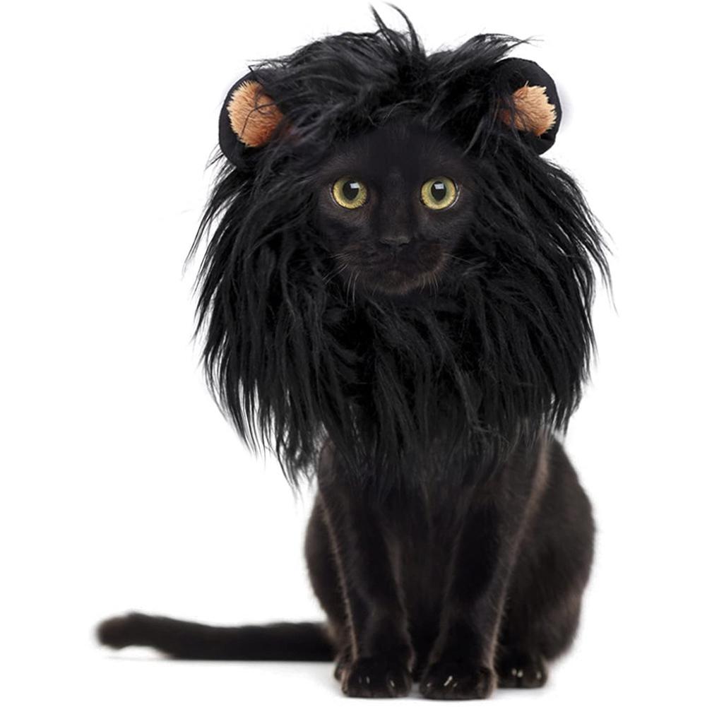 Polyester  Headgear Wig Hat Dog Cat Lion Shape Costume Pet Supplies S