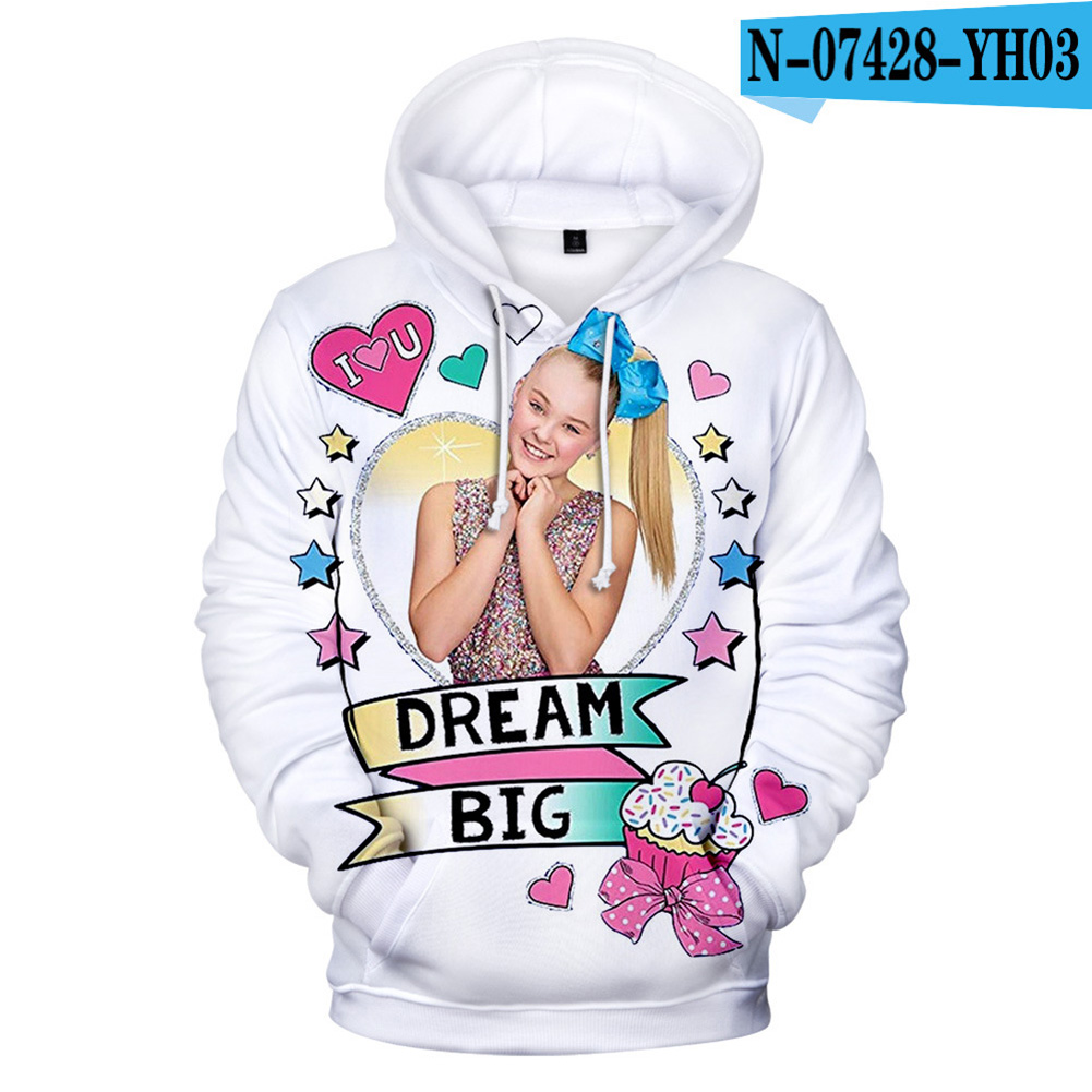 Men Women Hoodie Sweatshirt 3D Printing JOJO SIWA Loose Autumn Winter Pullover Tops G_XL