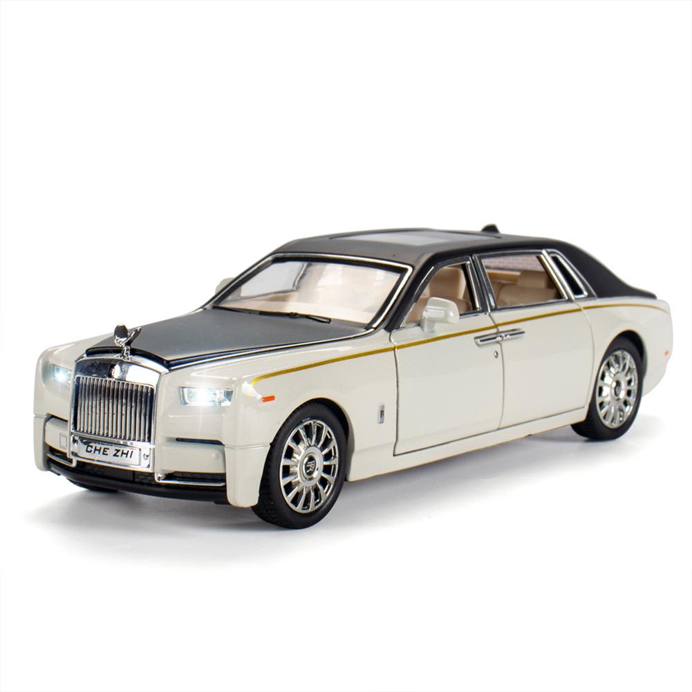 Car  Model  Decoration  Toy Simulation 1:24 Phantom Alloy Luxury Car Model Ornament White