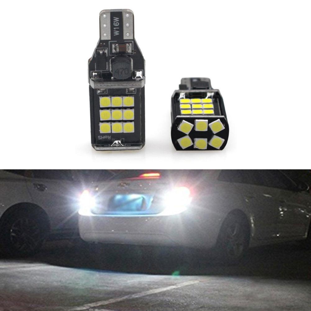2pcs Signal Lamp Led T15 Canbus 24smd 3030chips W16w Led Bulb Backup Light Car Reverse Light Parking Lamp White 12v White light