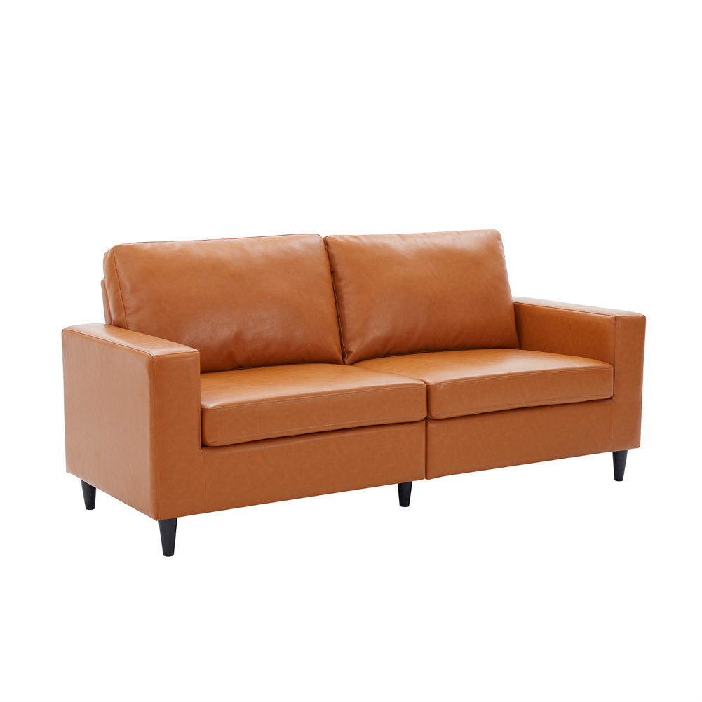 [US Direct] Sofa  Loveseat  Sets Couch Furniture Upholstered 3-seat Sofa Couch Home Office Furniture Orange