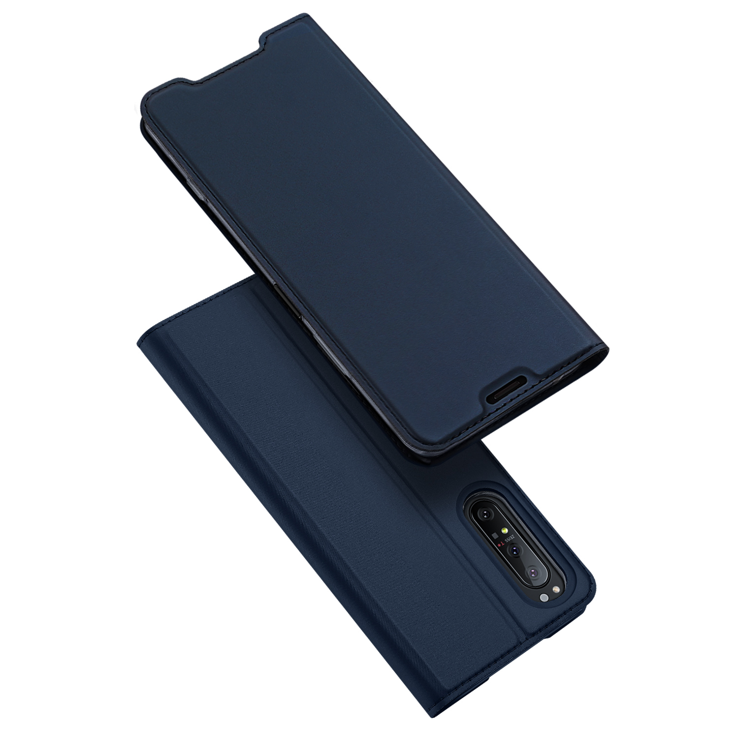 DUX DUCIS For Sony Xperia1 II/Xperia10 II Leather Mobile Phone Cover Magnetic Protective Case Bracket with Cards Slot Royal blue_Sony Xperia1 II