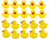 [EU Direct] DSstyle 20pcs Yellow Duck for Baby Bath Tub Bathing Rubber Squeaky Toys