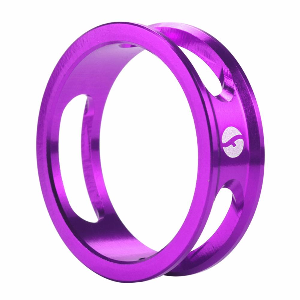 Mountain Bike Front Fork Washer Road Bike Headset Washer Aluminum Alloy CNC Hollow Highten Ring purple