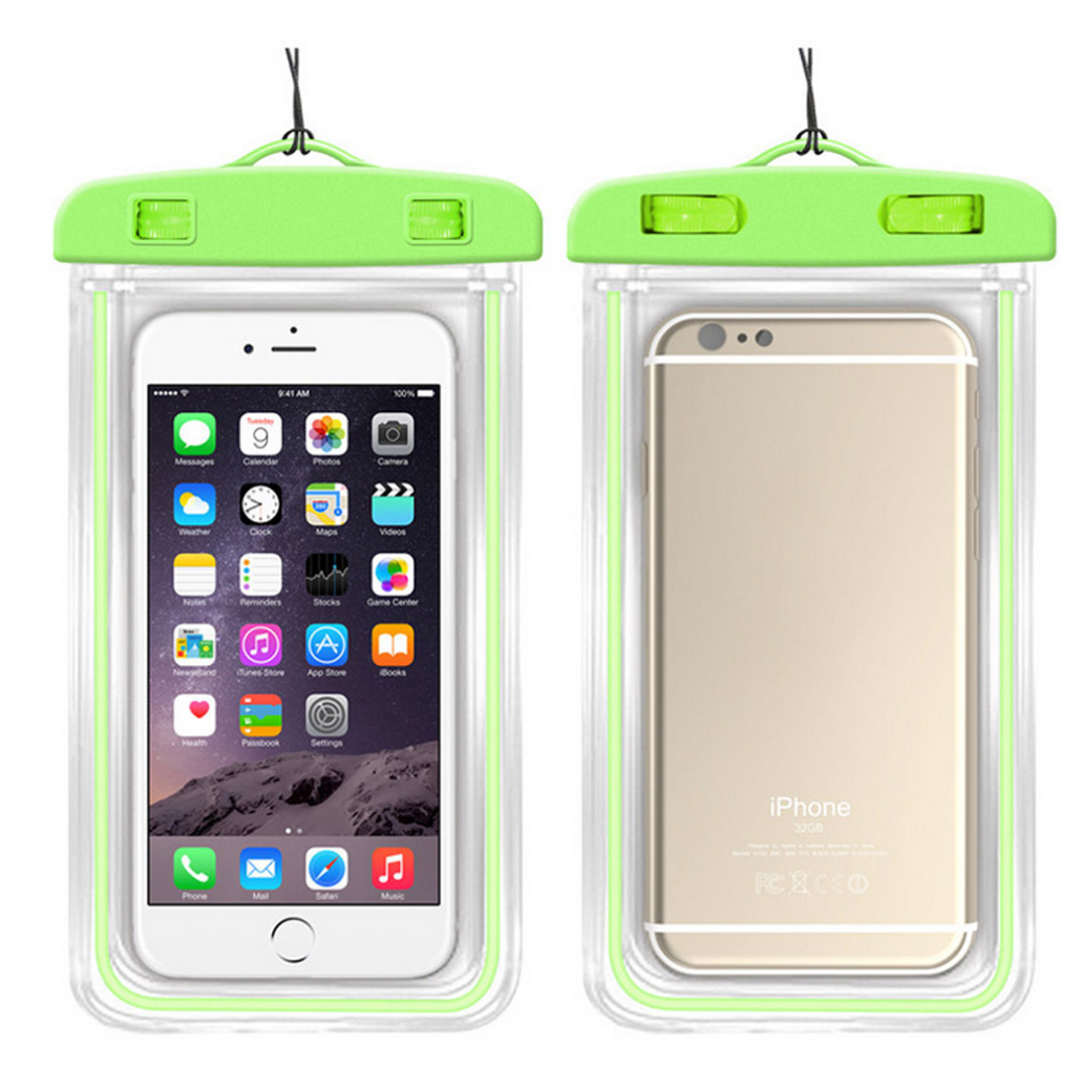 Transparent Dry Bag Waterproof Bags with Luminous Underwater Phone Case Swimming Bags for Universal All Models 3.5 inch -6 inch