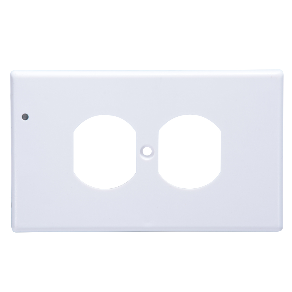 [EU Direct] Outlet Coverplate with LED Night Lights Switch Cover Light Wall-mount Safety Guidelight with Light Sensor