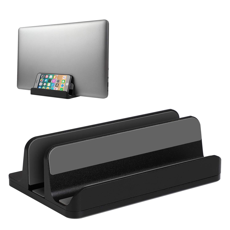 Vertical Laptop Stand Desktop Stand Adjustable Laptop Holder for MacBook Pro/Air Microsoft Surface black