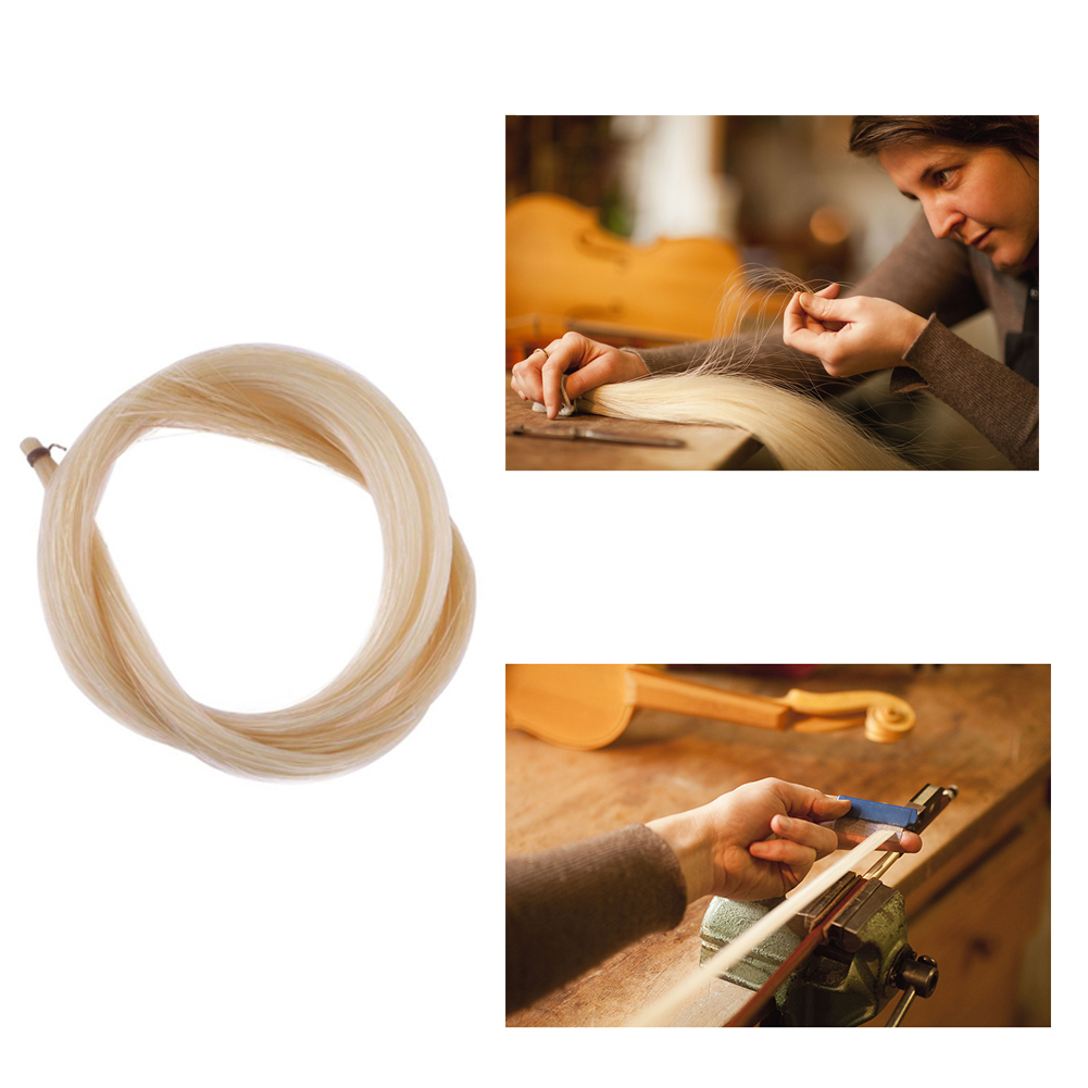 Universal Stallion Horse Hair for Violin Bow Stringed Musical Instruments Violin Parts Accessories About 74cm long