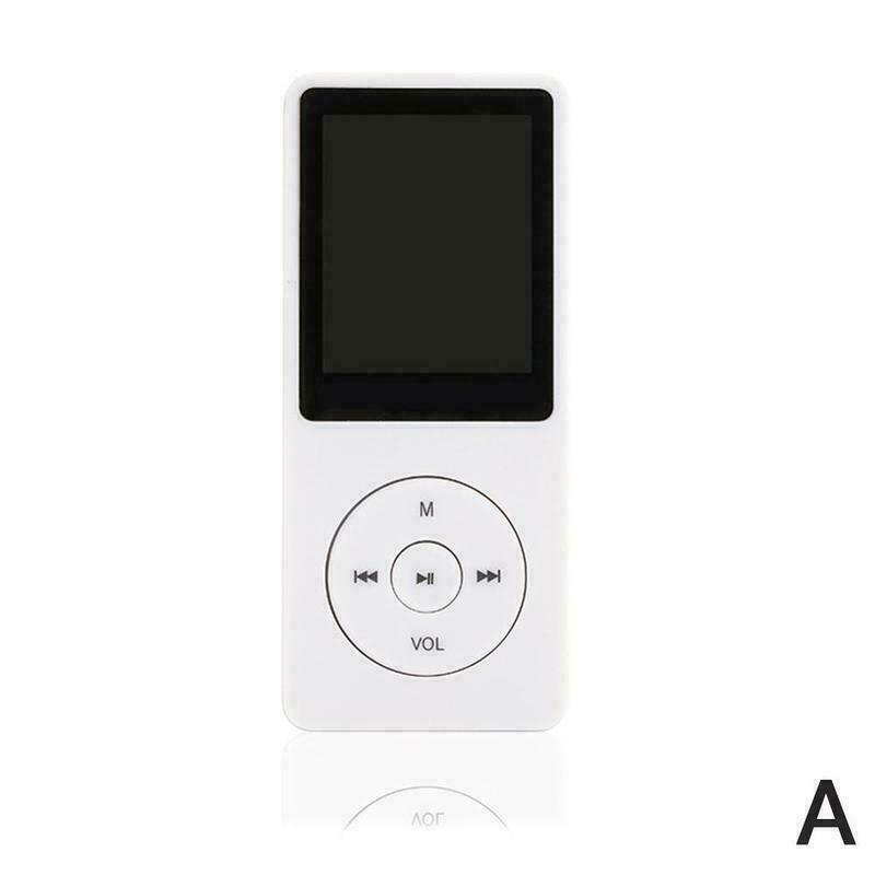 MP3 Player 1.8Inches 3.5mm Audio Jack Intuitive Menu Operation Player for Student Sport Driving white