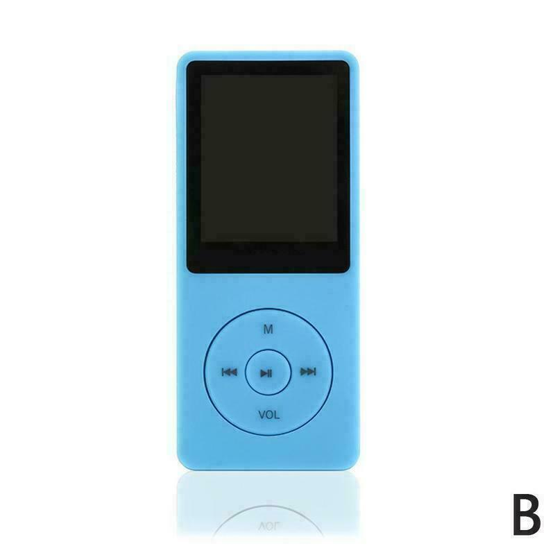 MP3 Player 1.8Inches 3.5mm Audio Jack Intuitive Menu Operation Player for Student Sport Driving blue