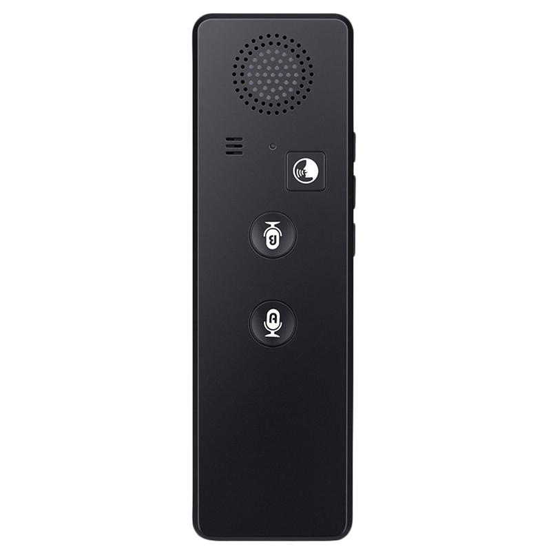 T3 Portable Real-Time Intelligent Voice Translator Interactive Multilingual Bluetooth Voice Text Translator black