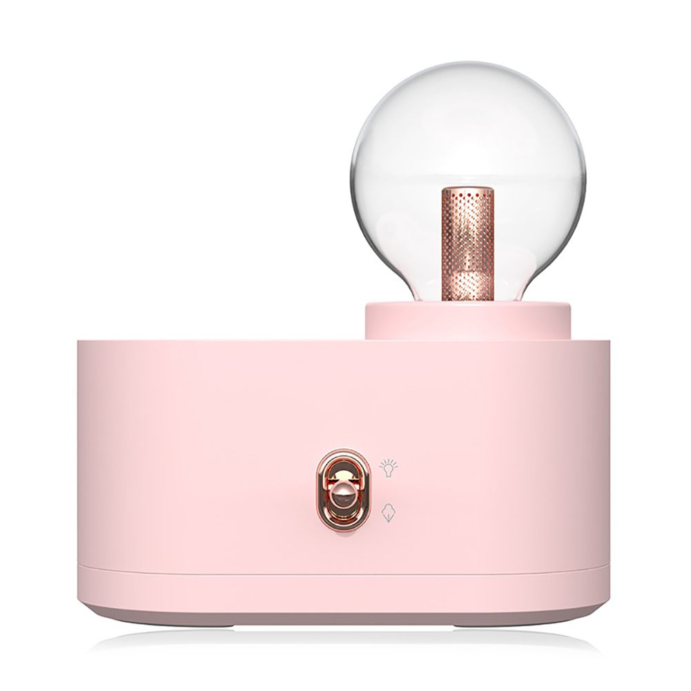 Air Humidifier Home USB Charging Wireless Bulb Shape Portable Mistmaker Pink