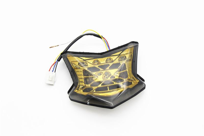 Motorcycle Integrated LED Tail Light Brake Stop Light Turn Signals for KAWASAKI Z900 2018-2019 Yellow shell