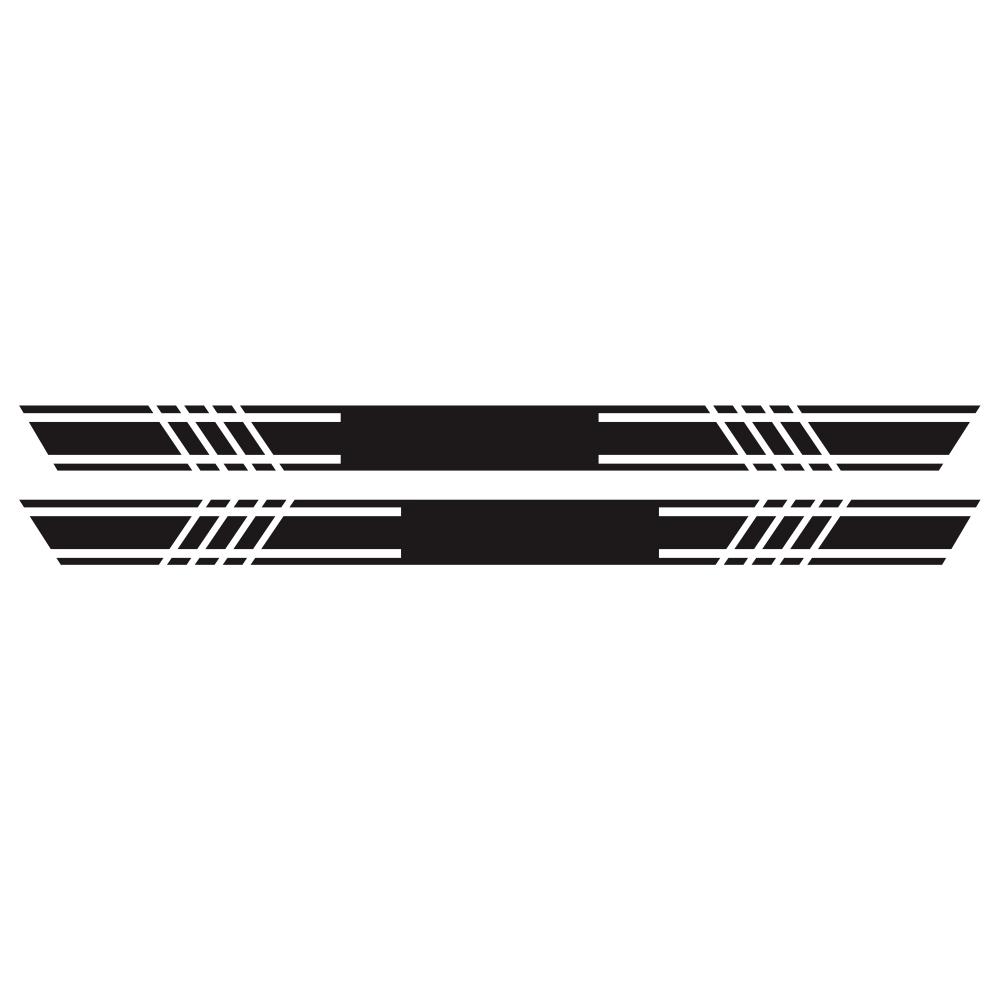 2pcs Car Rally Stripe Lower Door Panel for G Class G550 G63 Vinyl Sticker black