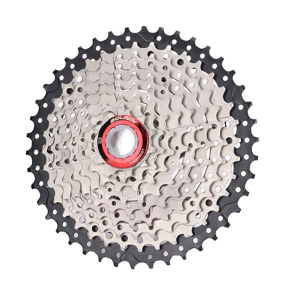 MTB Bike Freewheel 8S/9S 25 28 32 40 42T MTB Mountain Bike Flywheel 8 9 Speed Cassette Sprocket Black + silver_9-speed 42T