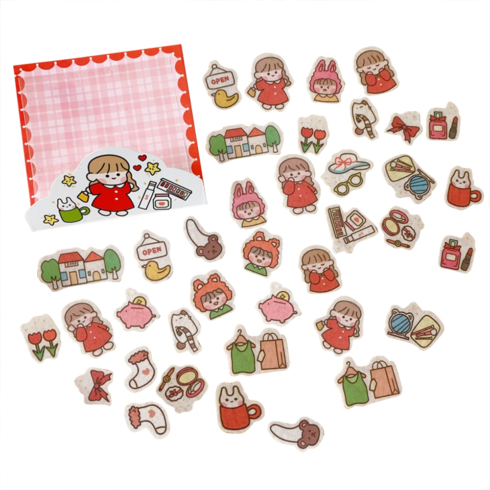 Cute Label Diary Handmade Adhesive Paper Sticker  Scrapbooking Stationery 3#