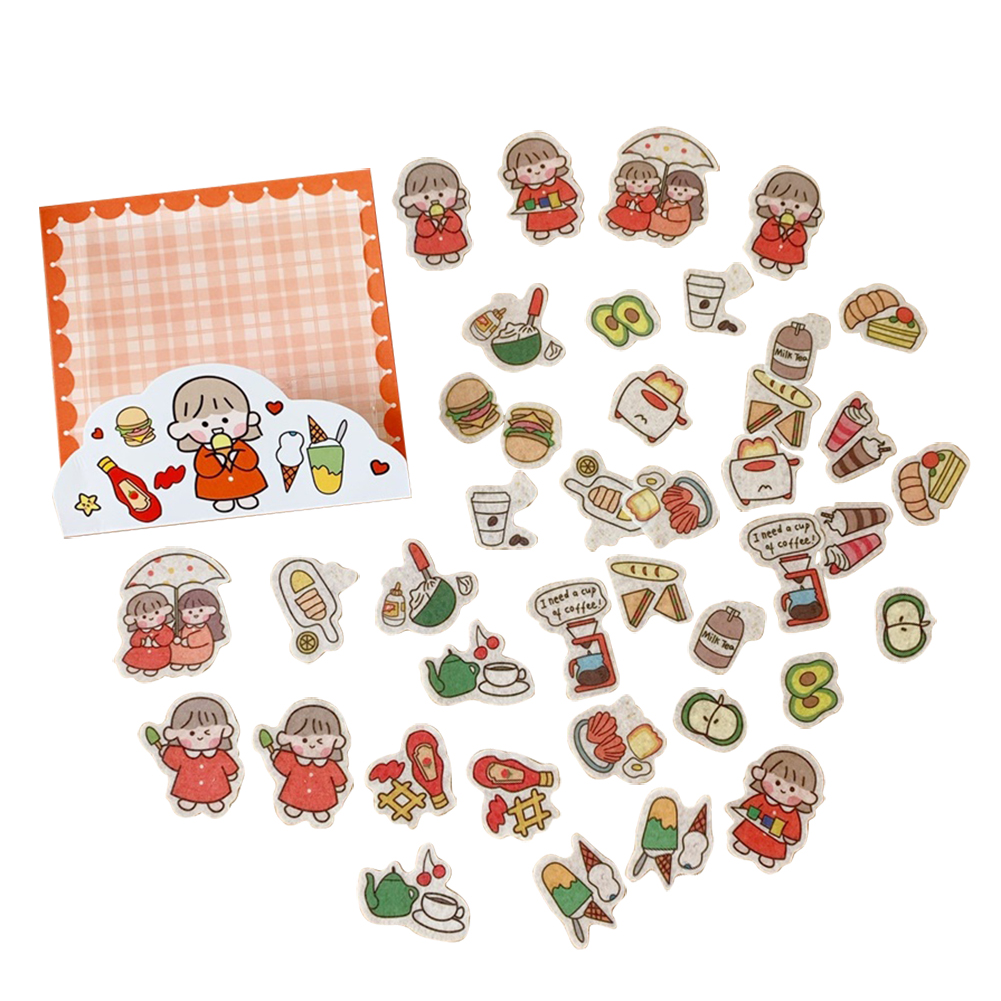 Cute Label Diary Handmade Adhesive Paper Sticker  Scrapbooking Stationery 2#