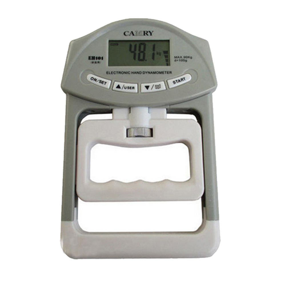 Electronic Hand Grip Strength Dynamometer Meter Auto Capturing Hand Grip Power gray
