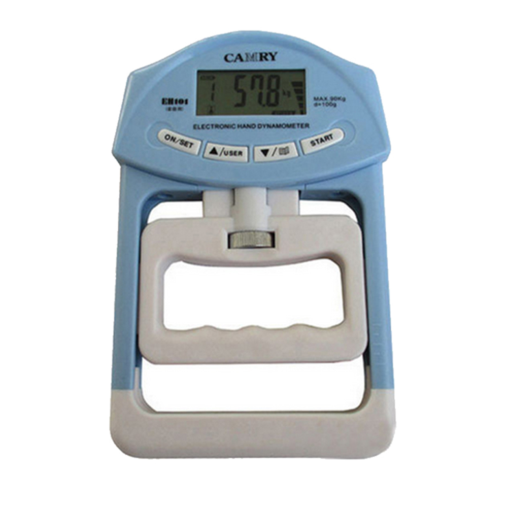 Electronic Hand Grip Strength Dynamometer Meter Auto Capturing Hand Grip Power blue