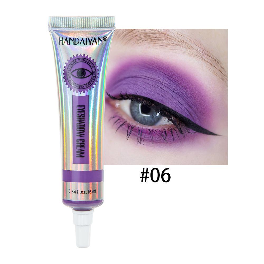Universal 12 Colors Matte Eyeshadow Lasting Eye Shadow Cream for Women 6#